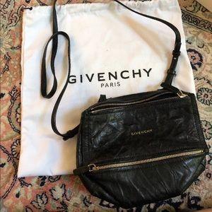GIVENCHY Black Mini Pepe Pandora Crossbody Bag
